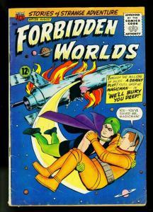 Forbidden Worlds #129 1965- Magicman- Retro rocket cover- ACG- VG