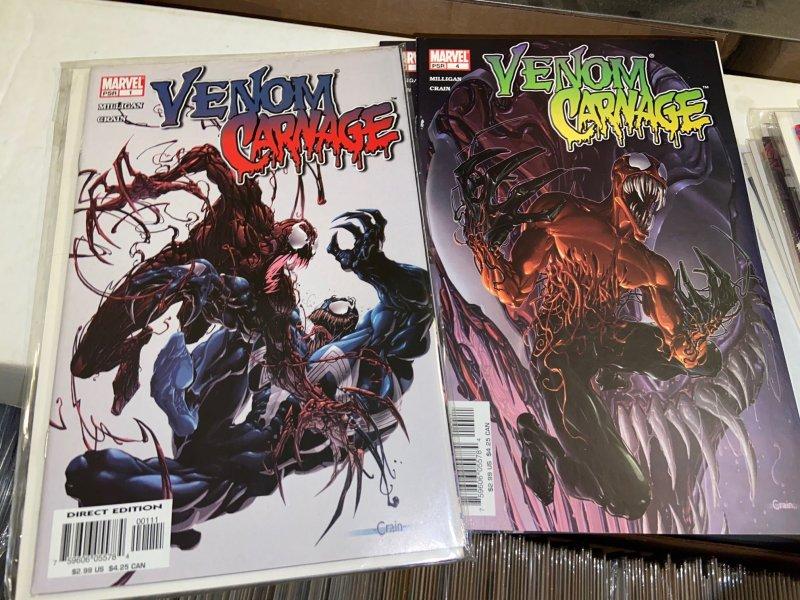 Venom vs Carnage (2004) Lot - Complete Series Set w/#s 1-4, 1st Toxin