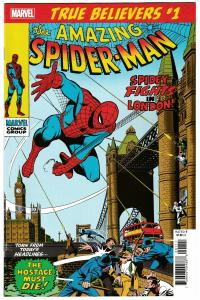True Believers Spider-Man Spidey Fights In London #1 Reprints ASM #95 (2019) NM