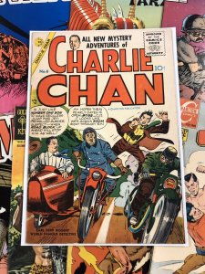Charlie Chan #6 VG+ 4.5 charlton publication GOLDEN AGE ten cents 1955 kirby