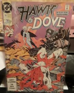 DC COMICS-HAWK & DOVE-#11-GUEST STARRING THE NEW TITANS!! GREAT FOR COLLECTORS