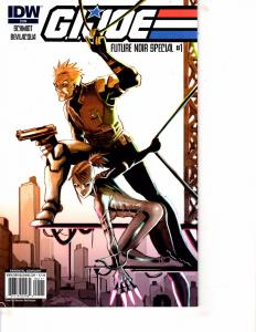 Lot Of 2 Comic Books IDW G.I.Joe Future Noir #1 and Vs Cobra #4  MS20