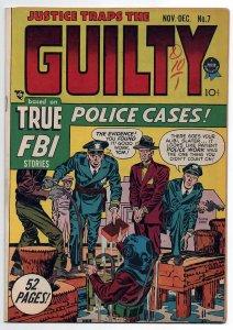 JUSTICE TRAPS THE GUILTY 7, VF/NM (9.0), 1948 HEADLINE PUB., CRIME ACTION