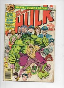 HULK #200, VG-, Incredible, Bruce Banner,  Silver Surfer, 1968, more in store
