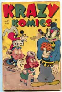 Krazy Comics #21 1946- CREEPER- Timely Funny Animals FAIR