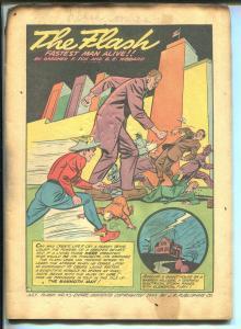 Flash #43 1943-DC-Mammoth Man-Ghost Patrol vs Hitler-Johnny Thunder-Whip-FR