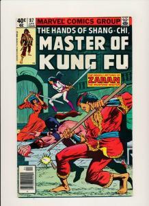 Marvel MASTER OF KUNG FU #87 1987 Deadly return of ZARAN VG/FINE (PF814)