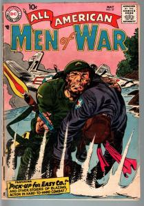 ALL AMERICAN MEN OF WAR #57-1958-WWII-DC-SILVER AGE G