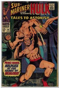 TALES TO ASTONISH 94 GOOD Aug. 1967 HIGH EVOLUTIONARY COMICS BOOK