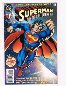 Superman The Man Of Tomorrow # 1 NM DC Comic Book 1995 Series Issue Breeding S72