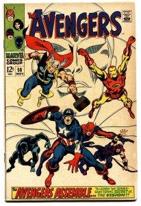 AVENGERS #58 1968-VISION ORIGIN-HOT BOOK-NICE COPY