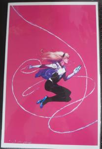 SIGNED Jerome Opena Spider-Gwen Print!11x17 NM poster Spider-Man Marvel