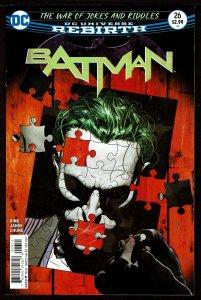 Batman #26 Rebirth (Sep 2017, DC) 0 9.2 NM-