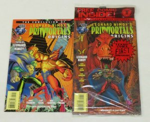 Leonard Nimoy's Primortals: Origins #1-2 VF/NM complete series in bag w/bonus