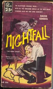 Nightfall  #LB131-Lion Books-hard boiled violence-David Goodis-Aldo Ray-G