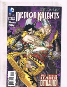 Lot of 5 Demon Knights DC Comic Books #14 15 16 17 18 Etrigan Vandal Savage LH2