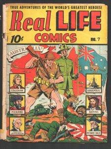 Real Life #7 1942-Australian soldier bayonets Japanese soldierAlex Schomburg-...