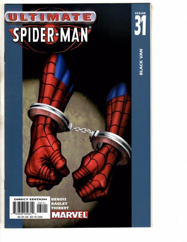 Lot Of 7 Ultimate Spider-Man Marvel Comic Books # 28 29 30 31 32 39 48 J261