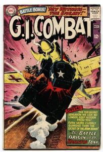G.I. COMBAT #114-1965-DC COMICS-ORIGIN HAUNTED TANK-WW2 vg/fn