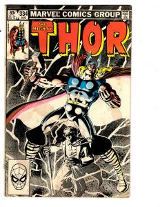 4 The Mighty Thor Marvel Comic Books # 334 335 338 339 Beta Ray Bill Foster BH40