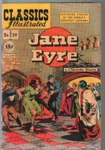 Classics Illustrated #39-HRN 71-Jane Eyre-Bronte-15¢sticker overlay price-VG