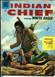 Indian Chief #20 1955-Dell-excellent Indian imagery-White Eagle-FR