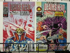 DEATHS HEAD II & DIE CUT (1993 MUK) 1-2 complete mini