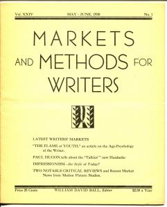 Markets & Methods For Writers 5/1930-writers trade publication-pulp markets-G