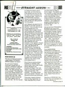Straight Arrow Pow-Wow Vol. 5 #20 1991- Western fanzine newsletter