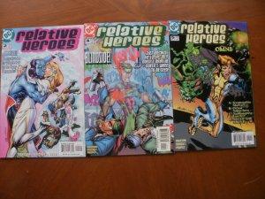 3 NM DC RELATIVE HEROES Comic #2 #4 #5 (2000) (Allure Blindside Omni) Grayson