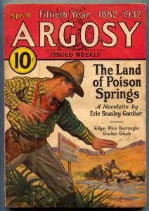 Argosy Pulp April 9 1932- Tarzan and the City of Gold- VG