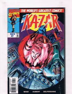 Ka-Zar #7 NM Marvel Comics Comic Book Waid Nov 1997 DE36