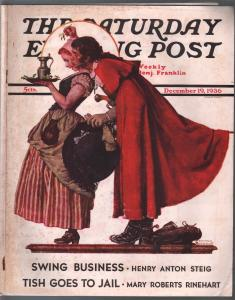 Saturday Evening Post  12/19/1936-Norman Rockwell cover-complete magazine-VG