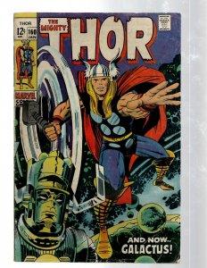 Mighty Thor # 160 VG/FN Marvel Comic Book Loki Odin Asgard Sif Avengers Hulk RB8