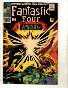 Fantastic Four # 53 FN Marvel Comic Book Silver Age Thing Human Torch Doom GK1