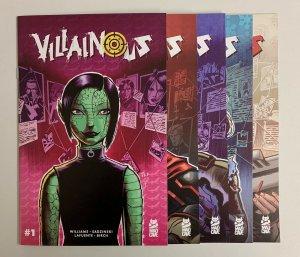 Villainous #1-5 Set (Mad Cave 2020) 1 2 3 4 5 Stonie Williams (9.2+)