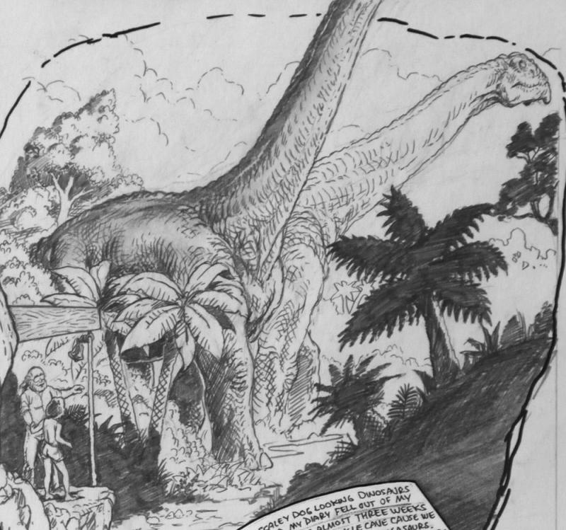 BUDD ROOT original published art, CAVEWOMAN #3 pg #23, 1st series ,14x17, 1994