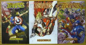 Zombies Assemble #1-3 VF/NM complete series - marvel comics manga avengers set 2