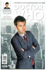 DOCTOR WHO #2 B, NM, 10th, Tardis, 2015, Titan, 1st, more DW in store, Sci-fi