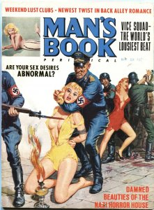 MAN'S BOOK-MAR 1966-GESTAPO TORTURE BONDAGE-CHEESECAKE-PULP THRILLS