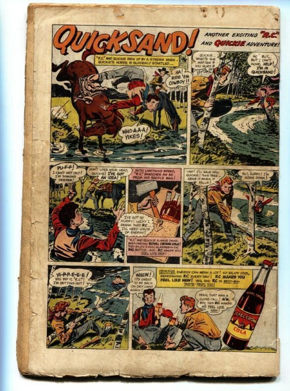 DETECTIVE Comics #164 Bat Signal cover-comic book Batman and Robin