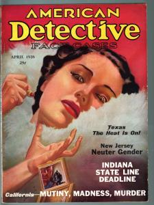 American Detective  Magazine April 1938 -Alcatraz- Good Girl cover VG/F