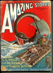 Amazing Stories 6/1926-Gernsback-3rd issue-historic sci-fi pulp-Wells-Verne-P/FR
