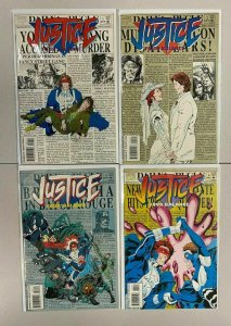 Justice Four Balance set from:#1-4 all 4 different books 8.0 VF (1994)