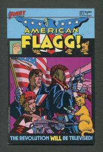American Flagg #12  /  8.5 VFN+  /  September 1984