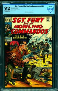 Sgt. Fury and His Howling Commandos #61 CBCS NM- 9.2 Off White to White
