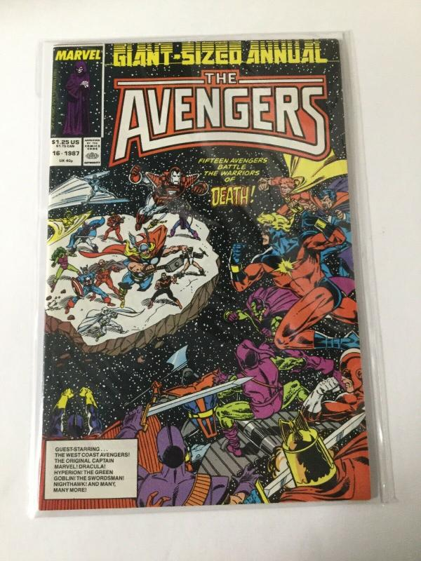 The Avengers Giant Sized Annual 16 Water Damage 6.5 Fn+ Fine+ Marvel