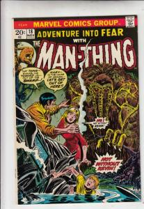 Adventures Into Fear #18 (Nov-73) NM- High-Grade Man-Thing