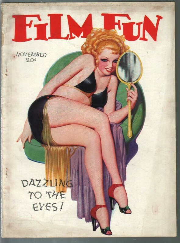 Film Fun 11/1937-Enoch Bolles saucy blonde-cover-spicy pulp fun-gags-VG-