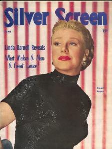Silver Screen-Ginger Rogers-Liz Taylor-Maureen O'Hara-June-1949